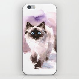 Watercolor Siamese Cat iPhone Skin