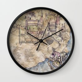 Hogwarts Map Wall Clock