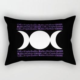 Moon Triple Goddess - Maiden Mother Crone Rectangular Pillow