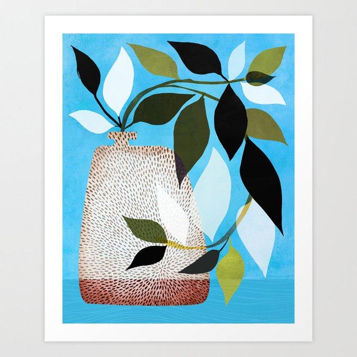 Tropical Vines + Blue Sky Art Print