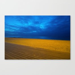 A night at the beach Canvas Print