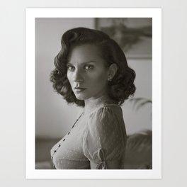 Dotty Blouse Portrait Art Print