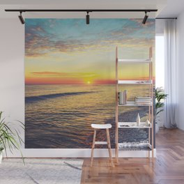 Summer Sunset Ocean Beach - Nature Photography Wall Mural