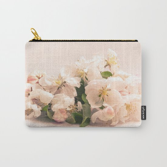 White flowers, spring photography Carry-All Pouch