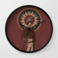 captain swan Wall Clocks featuring Captain by mycolour