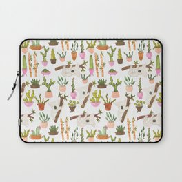 watercolor koala bears hanging out in their cactus succi garden Laptop Sleeve