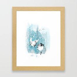 Dancing in the snow Framed Art Print