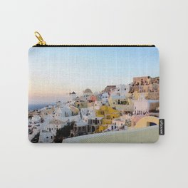 Wide Shot of Santorini at Sunset Carry-All Pouch