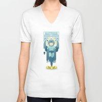 mega man V-neck T-shirts featuring Mega Man by yoursocialghost