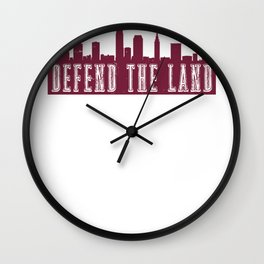 Cleveland Defend the Land Sports 2018 Wall Clock