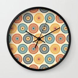1970s Bohemian Style Retro Vintage Dandelion Clock Pattern Wall Clock