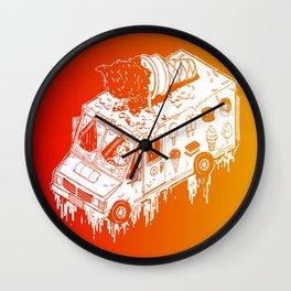 Melty Ice Cream Truck - sherbet Wall Clock