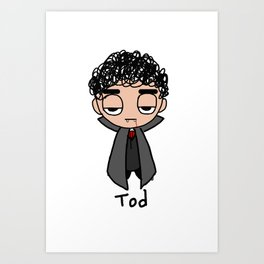 Tod as a Vampire Art Print