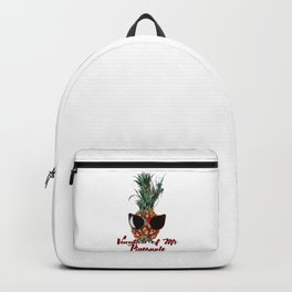 Vacations of Mr pineapple. Funny print Backpack