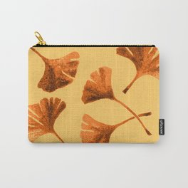 Orange Ginkgo Carry-All Pouch