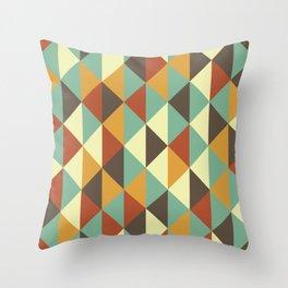 Triangle stencil Throw Pillow