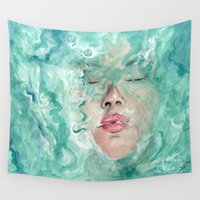 breathe Wall Tapestries featuring Breathe by Pendientera
