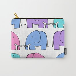 (Eleph)ants Go Marching Carry-All Pouch