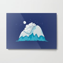 Cozy Mountain Metal Print