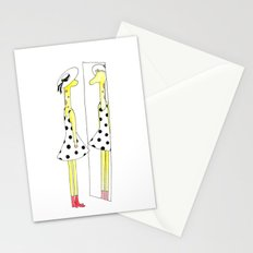 Gloria the Giraffe in a polka dot dress Stationery Cards