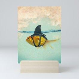 Brilliant DISGUISE - Goldfish with a Shark Fin Mini Art Print