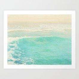 beach ocean wave. Surge. Hermosa Beach photograph Art Print