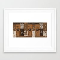 fat Framed Art Prints featuring Fat Fat Cafe by Astrobunny