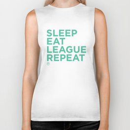 Eat League Sleep Repeat Biker Tank