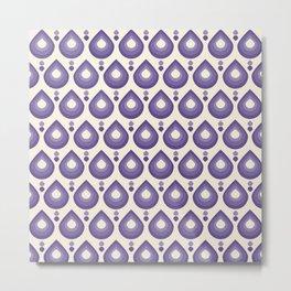 Drops Retro Ultra Violet Metal Print