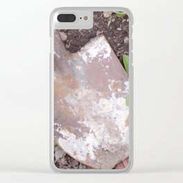 Rusty Old Shovel, Rusted Shovel In the Weeds, Old Used Shovel Clear iPhone Case