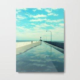 Breakwater Lighthouse Metal Print
