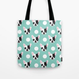 French Bulldog pattern polka dogs dog head funny dog meme cute gift for a dog lover frenchie owner Tote Bag