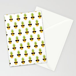 Funny Pineapple Gift Fruit Lover Sunglasses Summer Stationery Cards