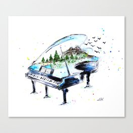 Piano with nature Canvas Print