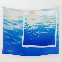 Neon Ocean Abstract Snapshot Wall Tapestry