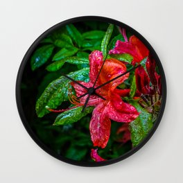 Red Flower. Wall Clock