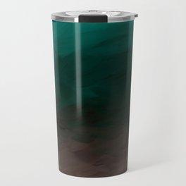 Inverted Fade Turquoise Travel Mug