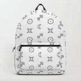 Gemini/Sagittarius + Sun/Moon Zodiac Glyphs Backpack