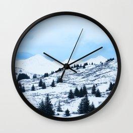Winter Landscape Photography Print Wall Clock