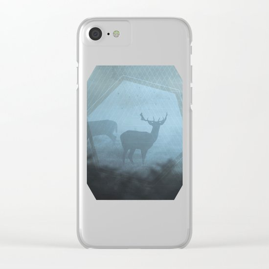 Mystic Deer Clear iPhone Case