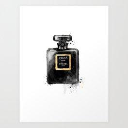 Perfume bottle fashion Art Print