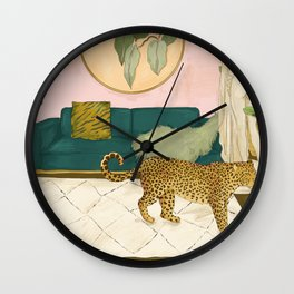 A Leopard in my Living Room Wall Clock