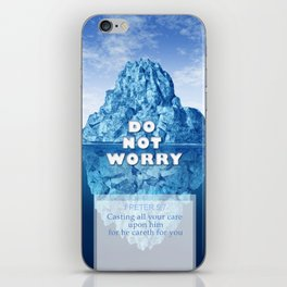 1 Peter 5:7 Worry iPhone Skin