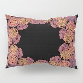 Rosey Rose Wreath, Pink Pillow Sham