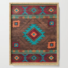 Bohemian Traditional Southwest Style Design Serving Tray