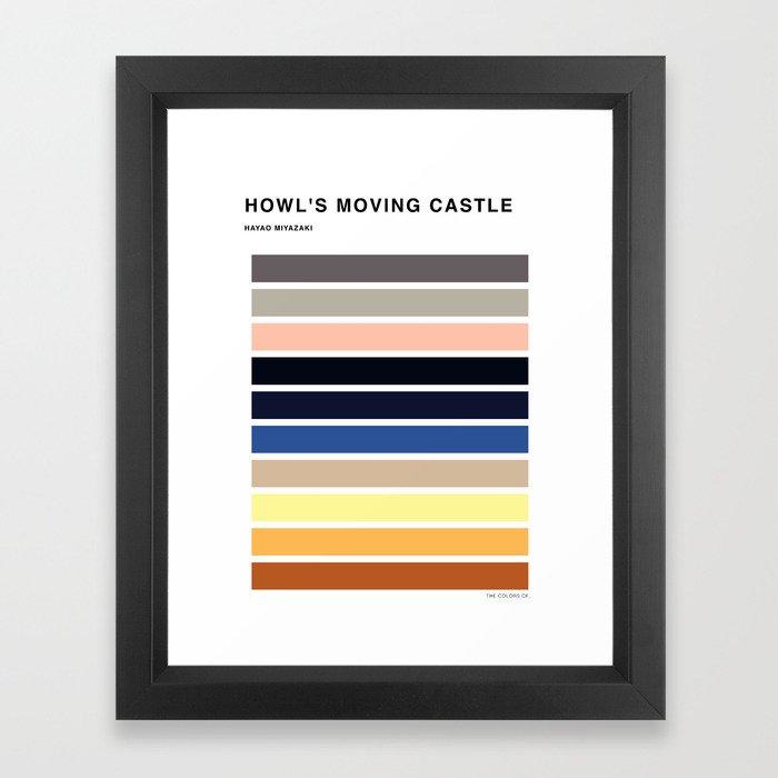 The colors of - Howl's moving castle Framed Art Print