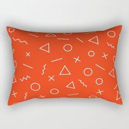 MEMPHIS ((cherry red)) Rectangular Pillow