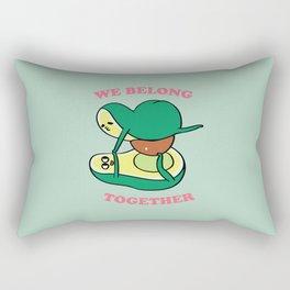 We Belong Together Avocado Yoga Rectangular Pillow