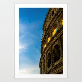 Sunset Hitting The Roman Colosseum Art Print
