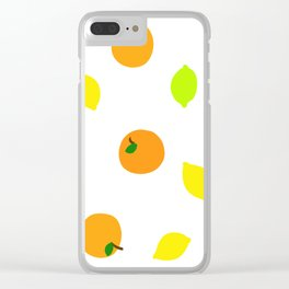 Citrus with Yellow, Orange and Green Oranges, Lemons and Limes Clear iPhone Case